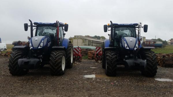 Comparatif traction - Horsch Terrano - NewHolland